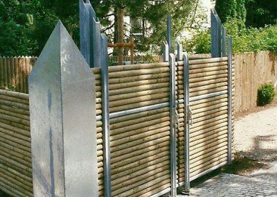 Einfriedung für Mülltonnen an Wohnanlage in Starnberg