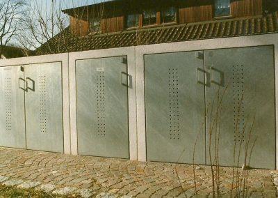 Mülltonnenboxen an Wohnanlage in Fürstenfeldbruck